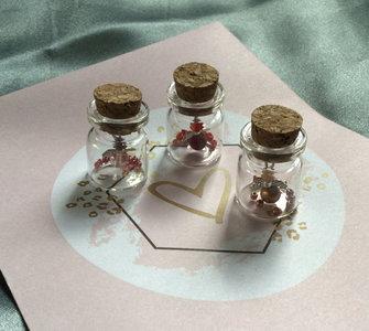 engeltje in glazen flesje troostkado